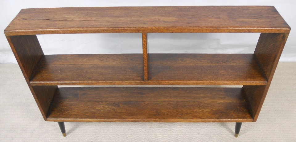 Arts amp Craft Style Oak Open Bookshelves with 1960 s Legs  : arts craft style oak open bookshelves with 1960 s legs sold 5 1488 p from www.harrisonantiquefurniture.co.uk size 960 x 462 jpeg 167kB